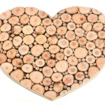 Heart made from wattle disc - size of heart  48 wide x 39cm high-