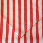 Table Runner - Coral & White Stripe