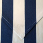 Table Runner - Navy Blue & White Stripe