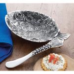 Metal fish dip cup set - MP108485