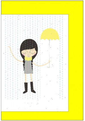 Cards - Girl in Rain
