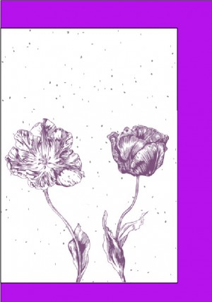 Cards - Purple Flowers