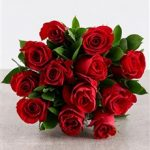 Red Roses in Cellophane x 12 (1)