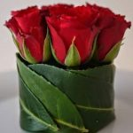 Red Roses wrapped in Leaves (x10)